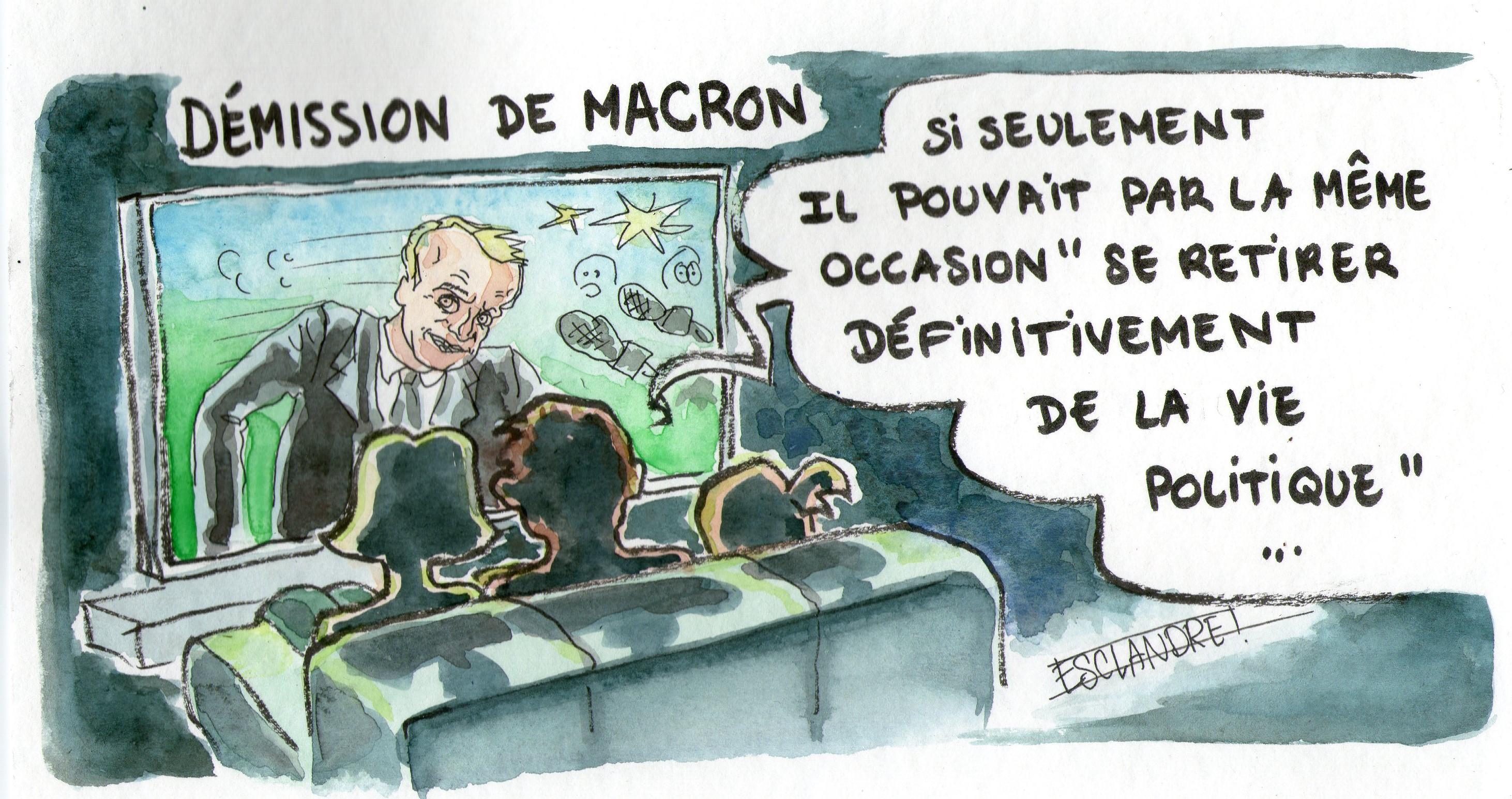 Soulagement des français face à la démission de Macron