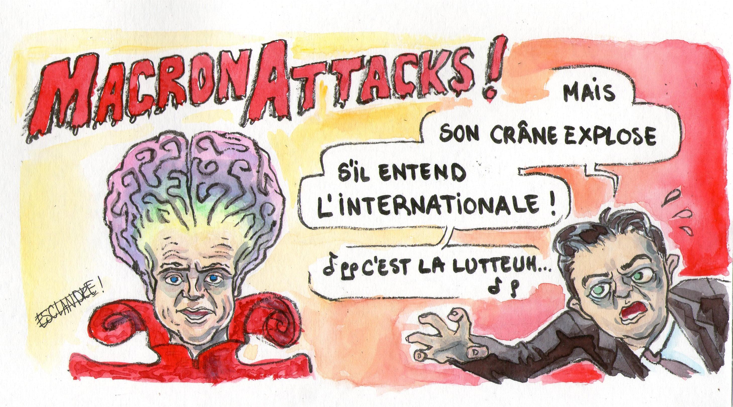 Quand Macron attaque, Mélenchon contre attaque