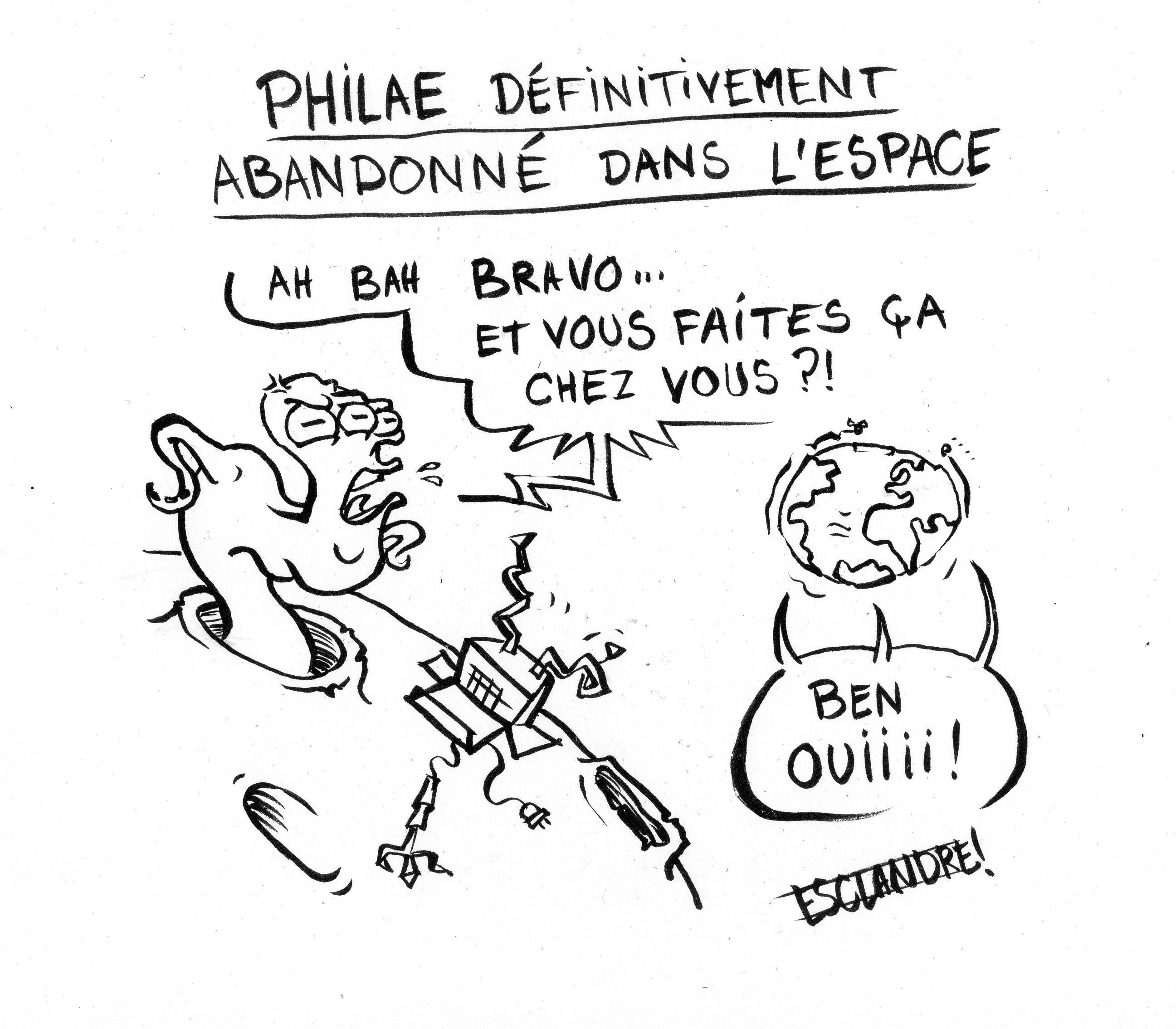 Philae définitivement abandonné dans l'espace