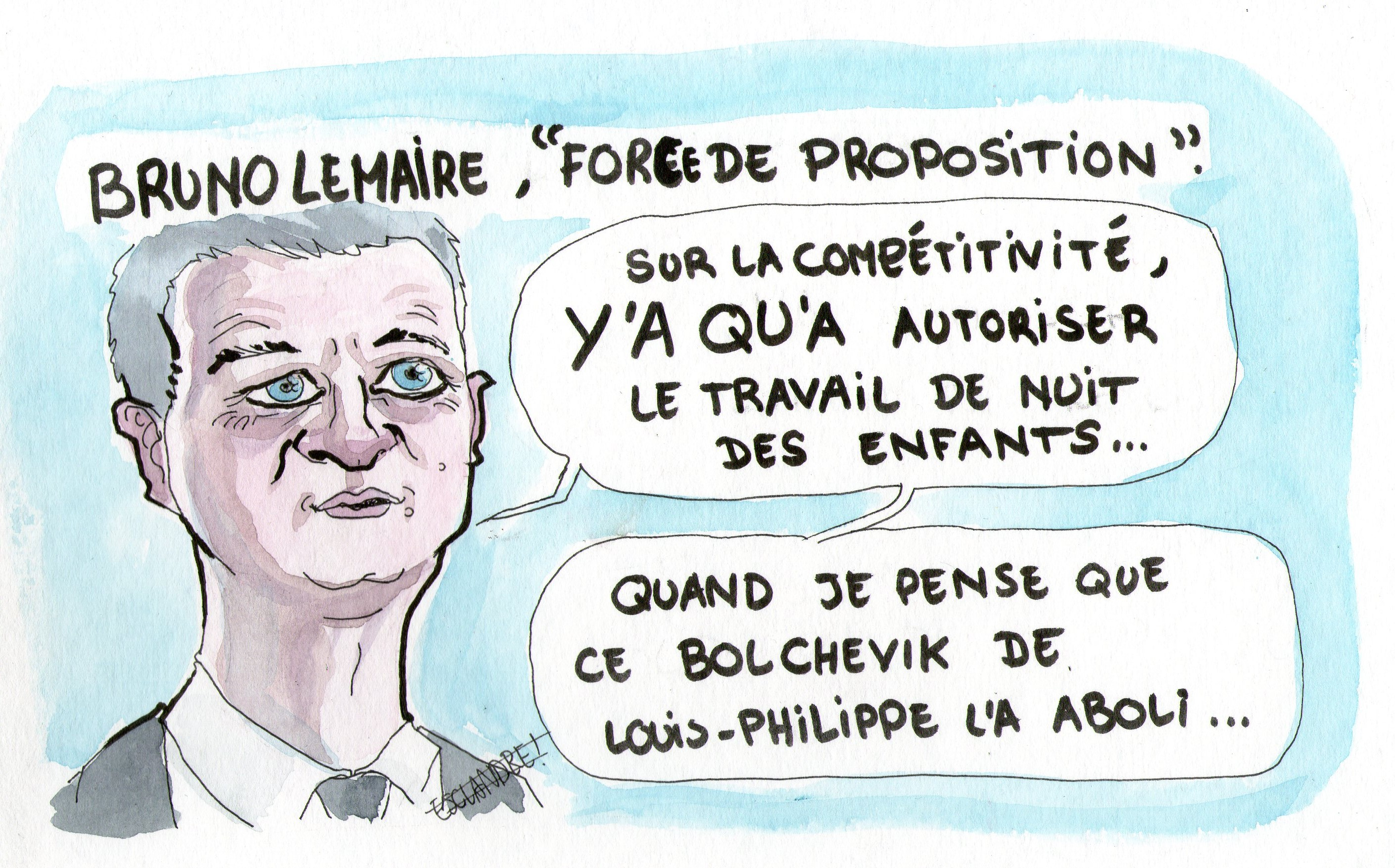 Bruno Lemaire, « force de proposition »