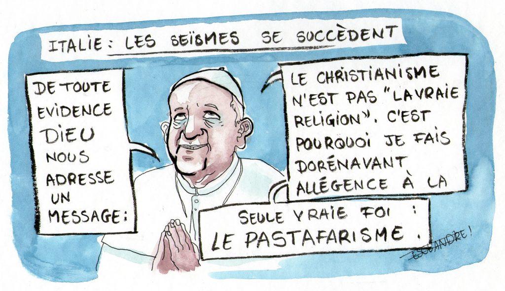 Le pape précédent avait démissionné, l'actuel reconnait son fourvoiement...