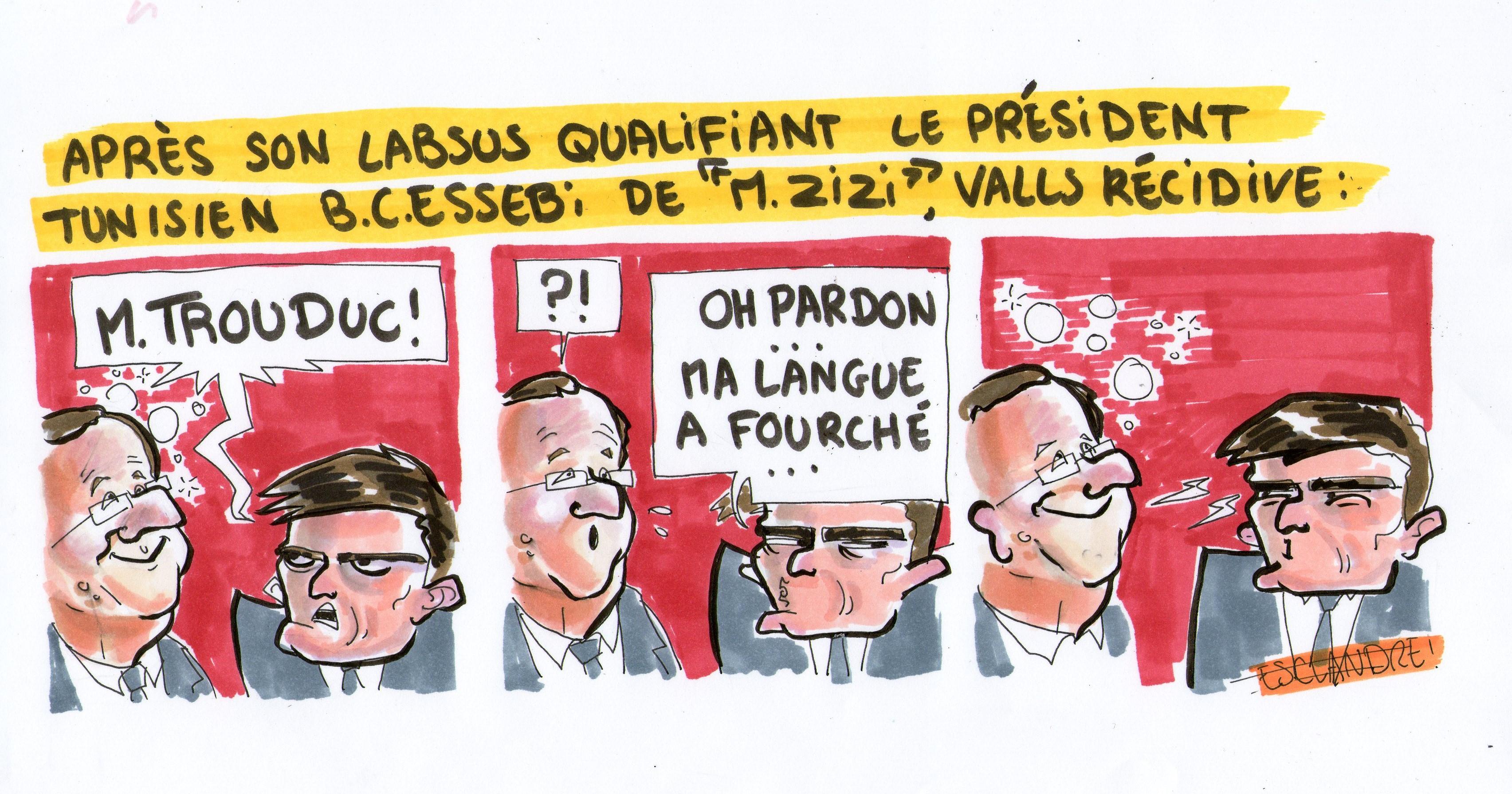 Valls n'arrive pas toujours à se contenir face à Hollande