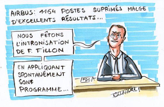 Suppression de postes chez Airbus : le programme politique de Fillon fait des émules