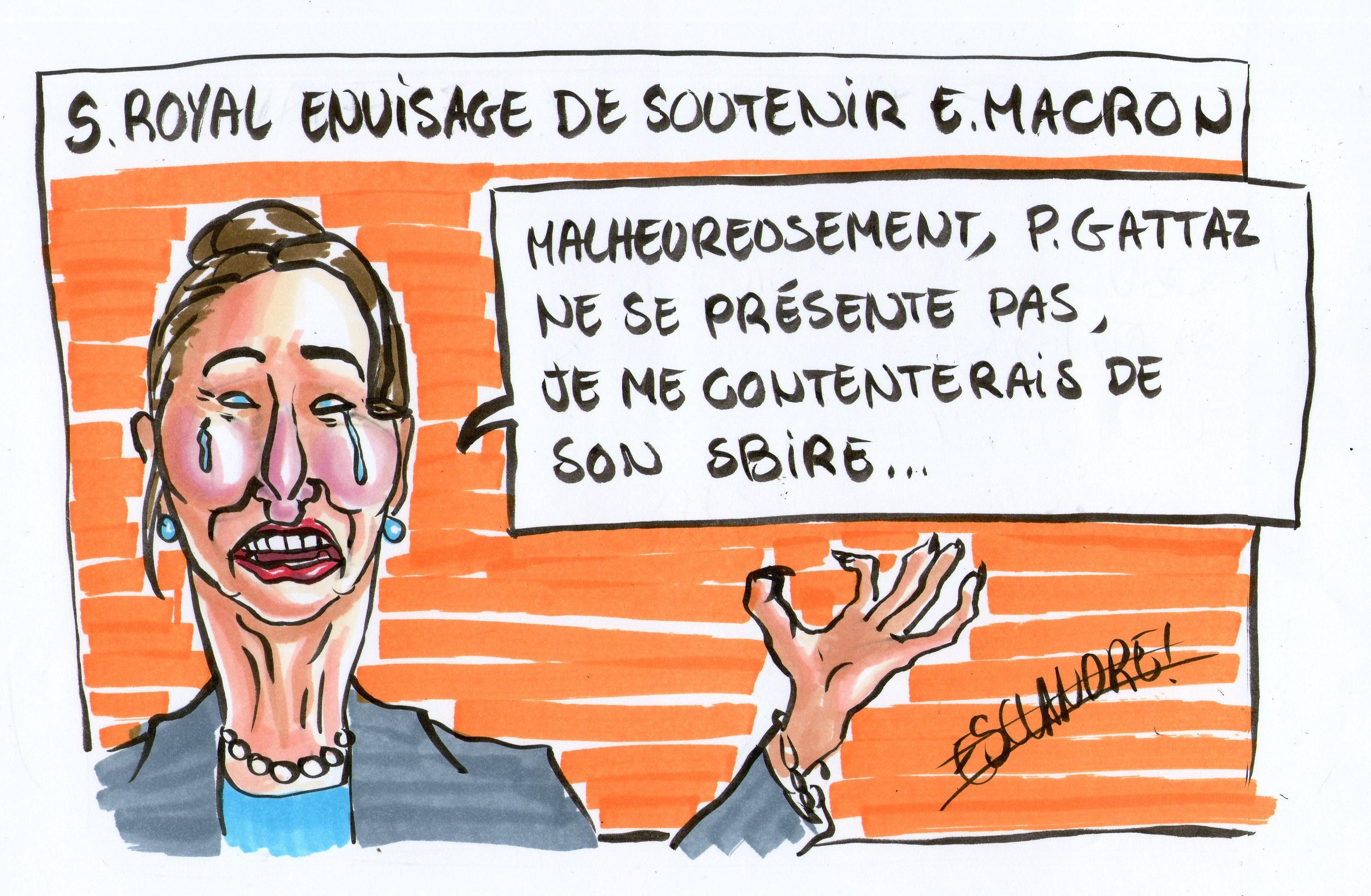 Ségolène Royal envisage de soutenir Emmanuel Macron