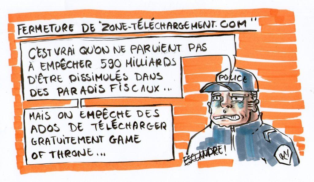le-querelleur-zone-telechargement-police-fraude-fiscale-esclandre