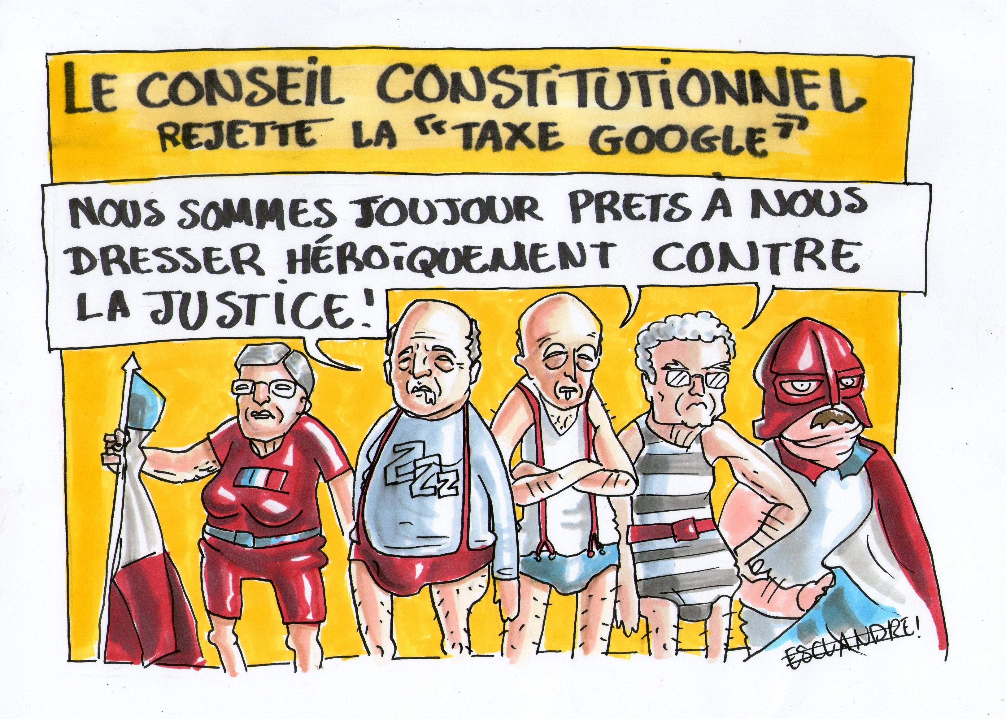 Le conseil constitutionnel rejette la «taxe Google»