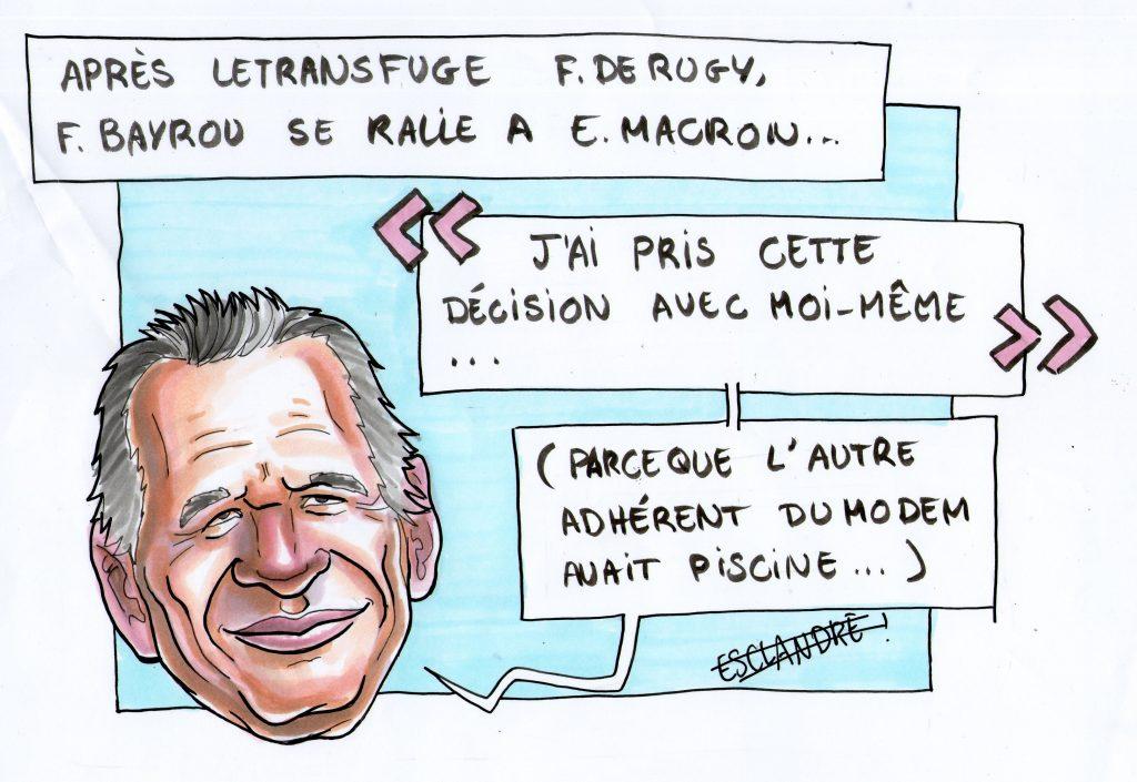Bayrou se dédit et rallie Macron