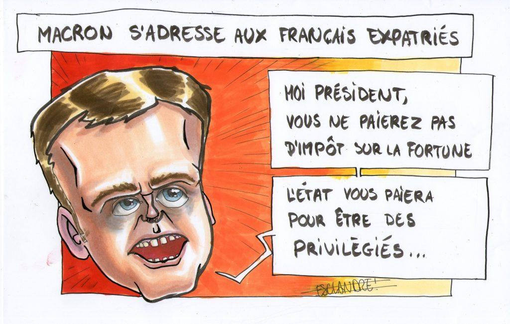 Macron s'adresse aux français expatriés