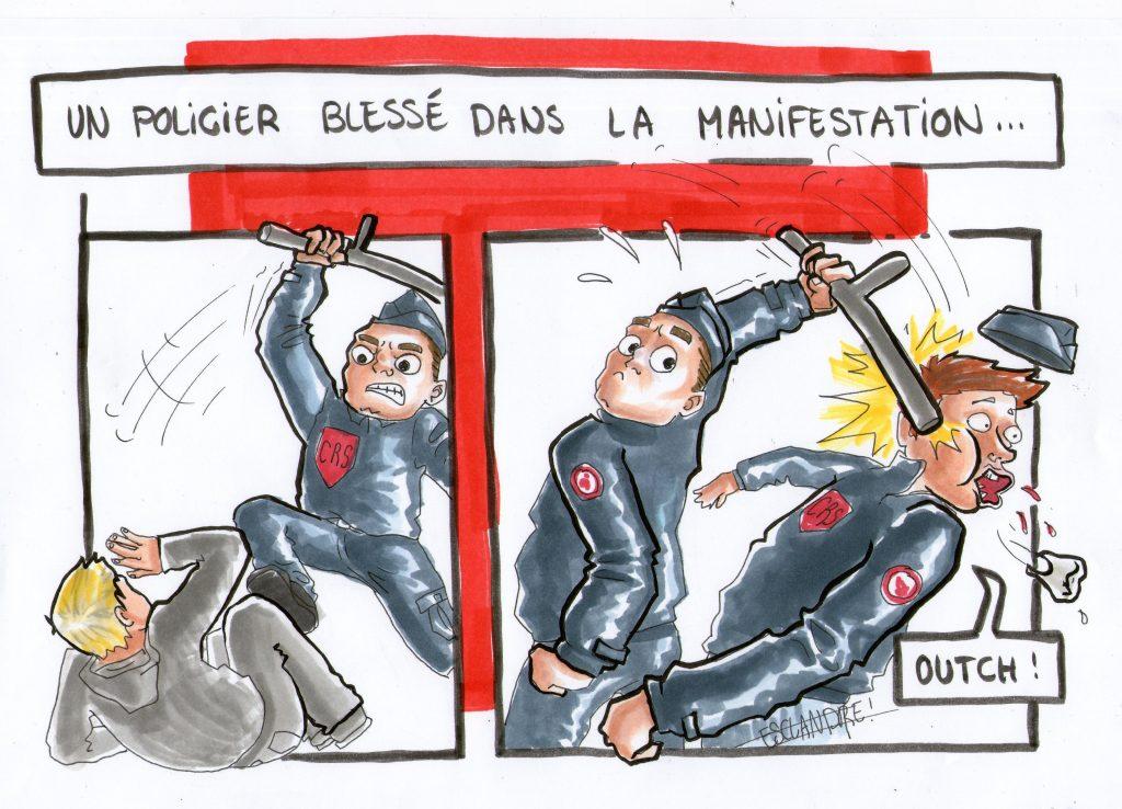 Justice pour Théo : un policier blessé à République