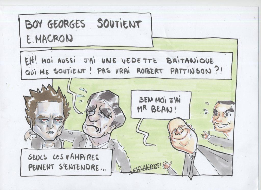 Boy George soutient Emmanuel Macron
