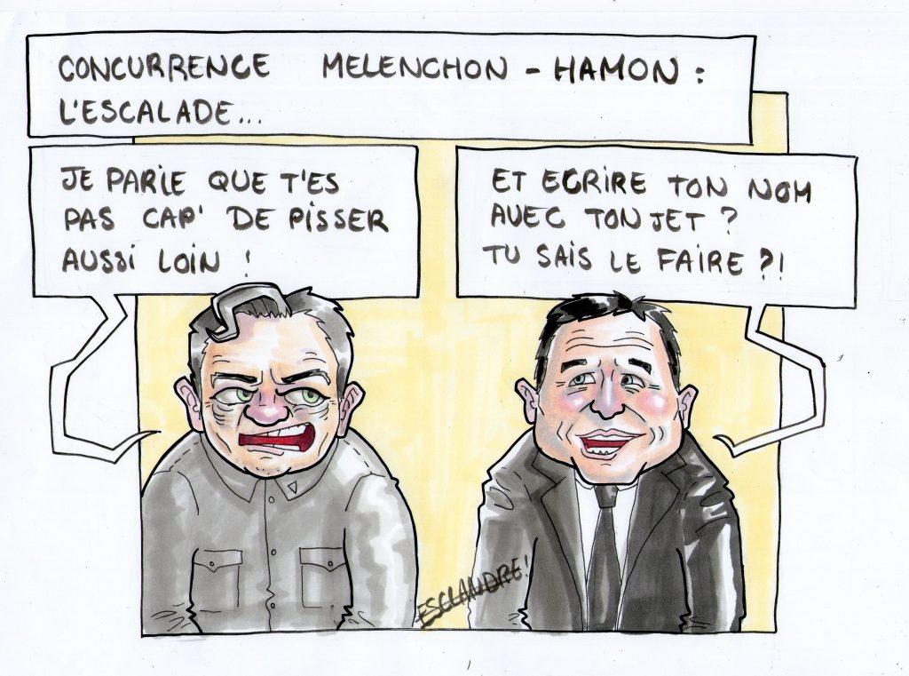 La guerre des gauches : Mélenchon et Hamon