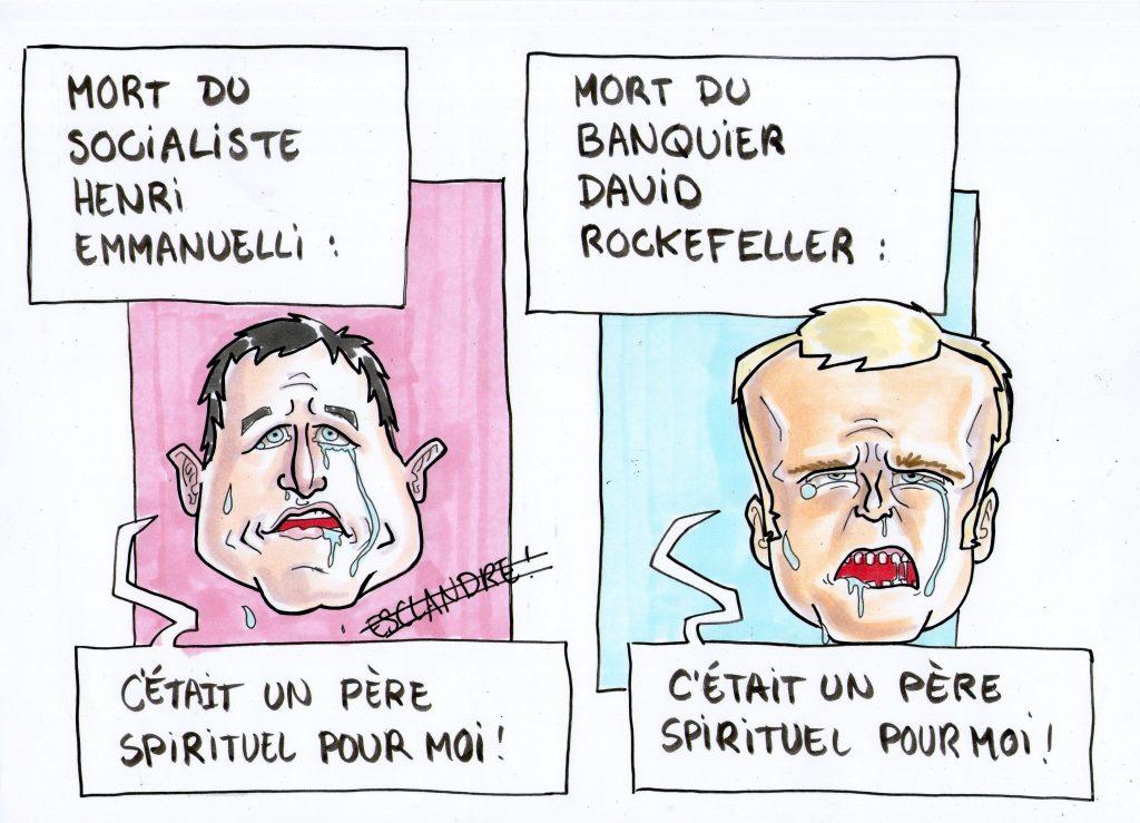 La mort d'un père spirituel est toujours une épreuve pour Hamon et Macron