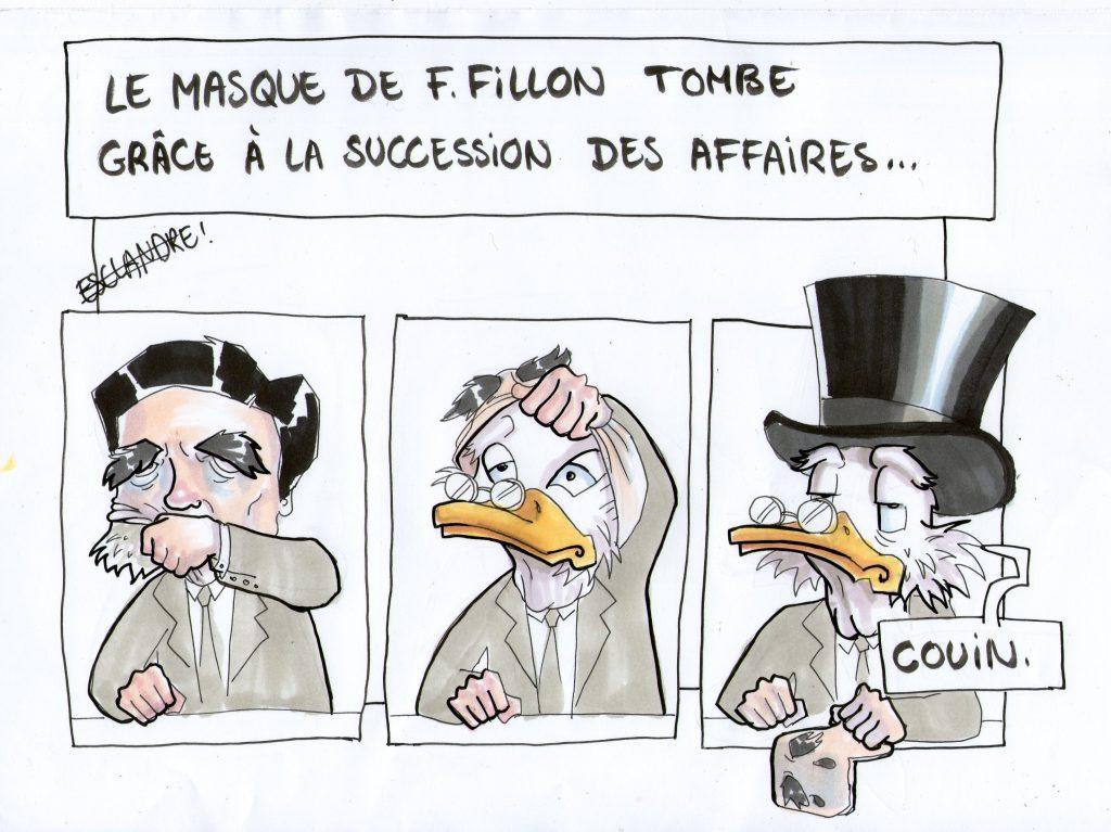 Succession des affaires financières : le masque de Fillon tombe