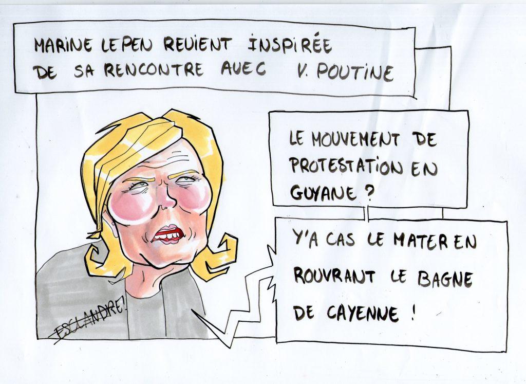 Marine Le Pen revient sur le mouvement social en Guyane
