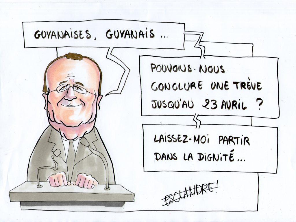 François Hollande appelle au calme en Guyane