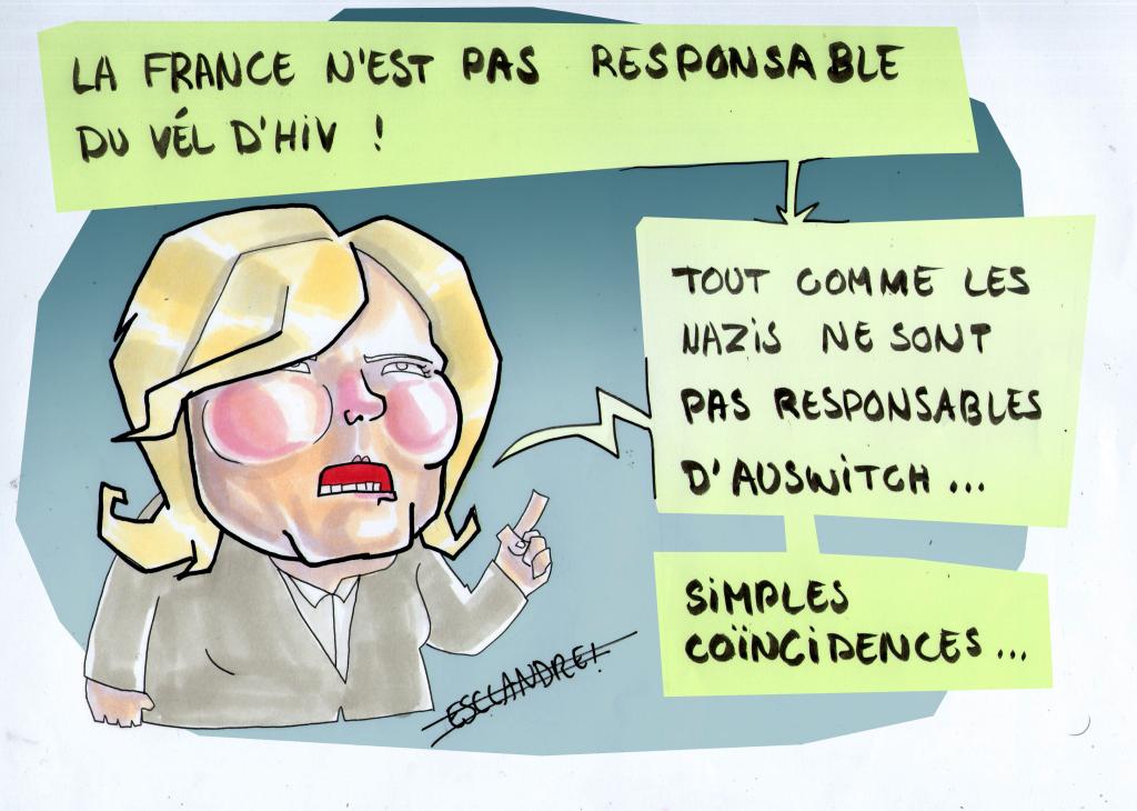 Polémique sur le Vel'd'Hiv : Marine Le Pen précise son propos