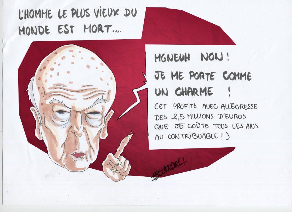 L'homme le plus vieux du monde est mort et ce n'est pas Giscard !
