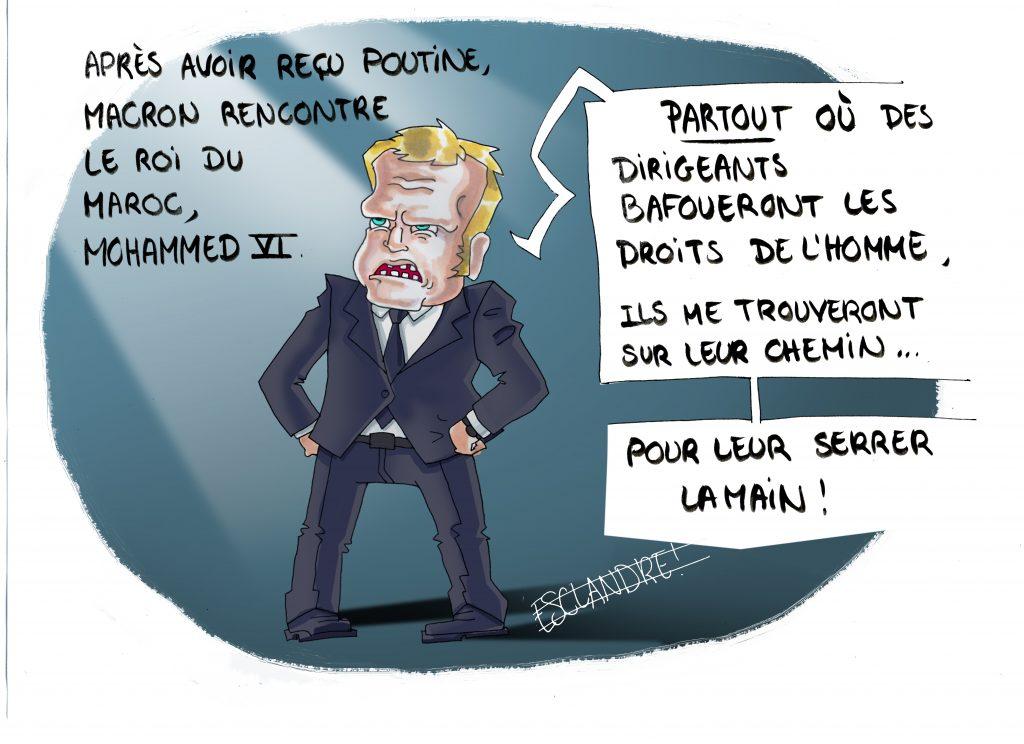 Emmanuel Macron le justicier des droits de l'homme