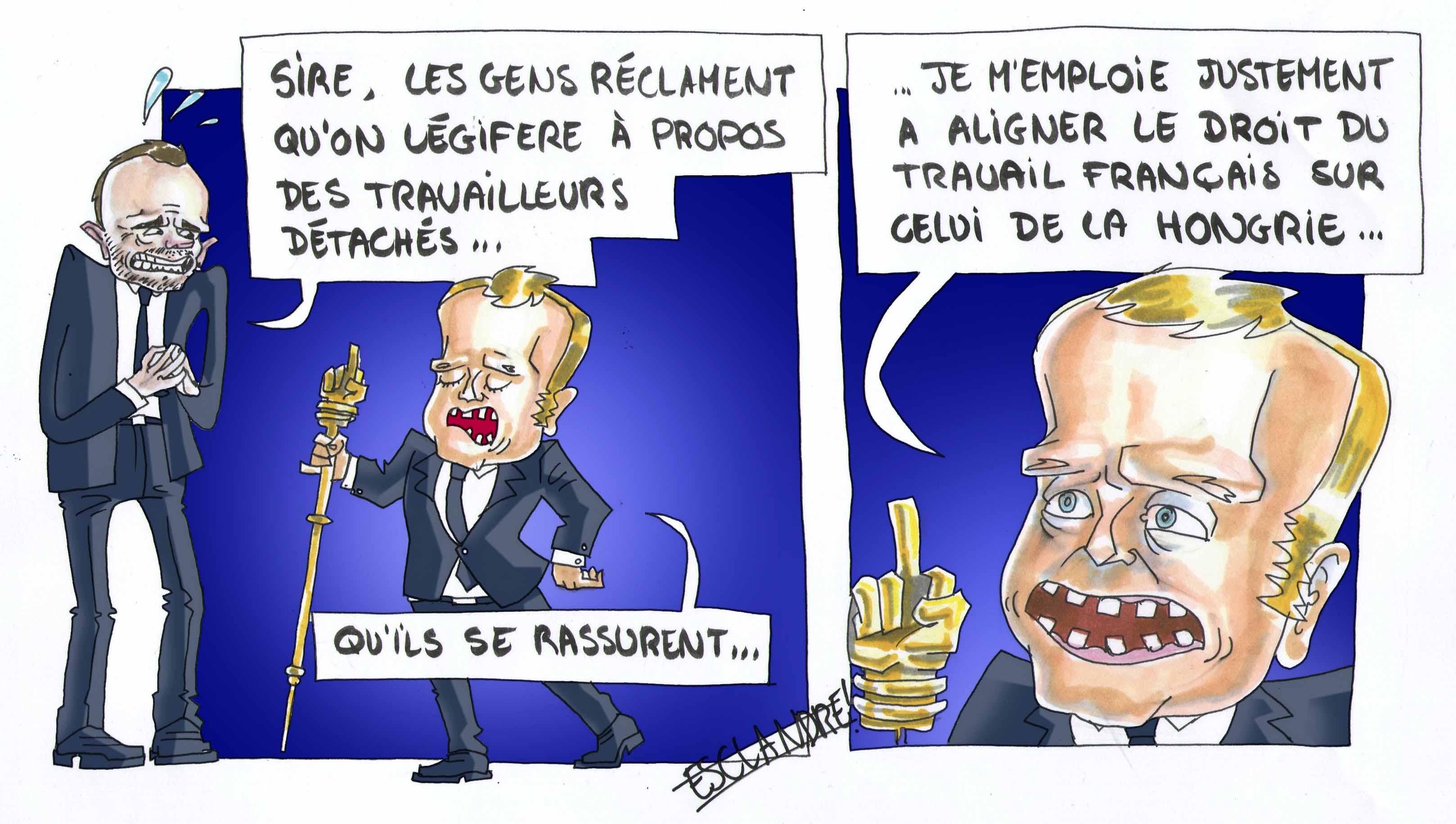 Le seigneur Macron légifère sur les travailleurs détachés