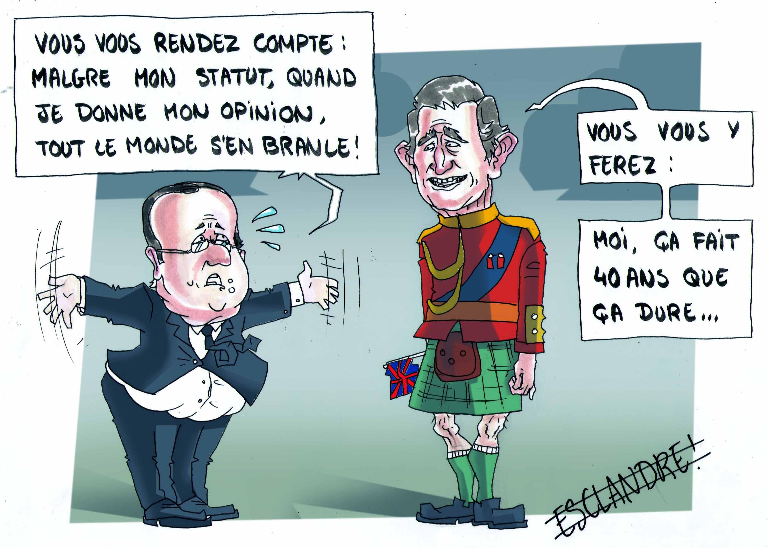 François Hollande persiste à donner son avis