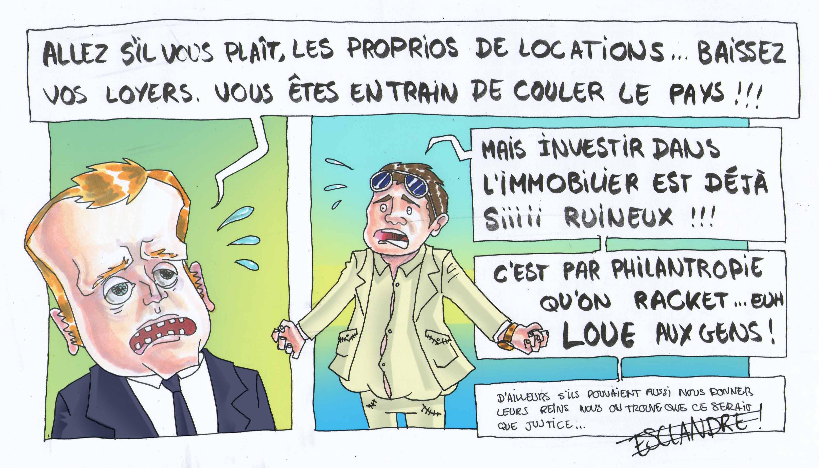 Macron demande aux propriétaires de baisser le loyer
