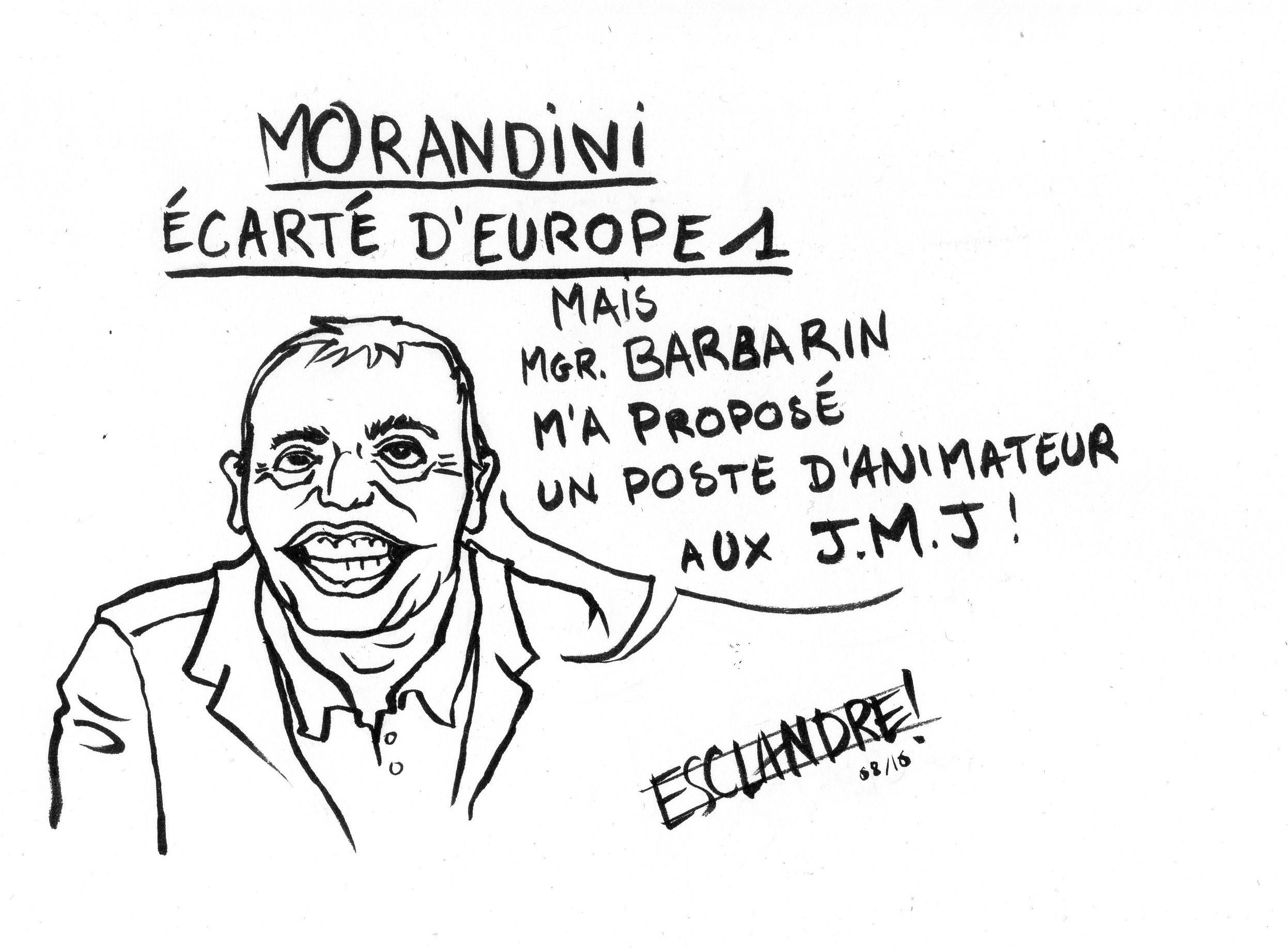 Morandini écarté d'Europe 1