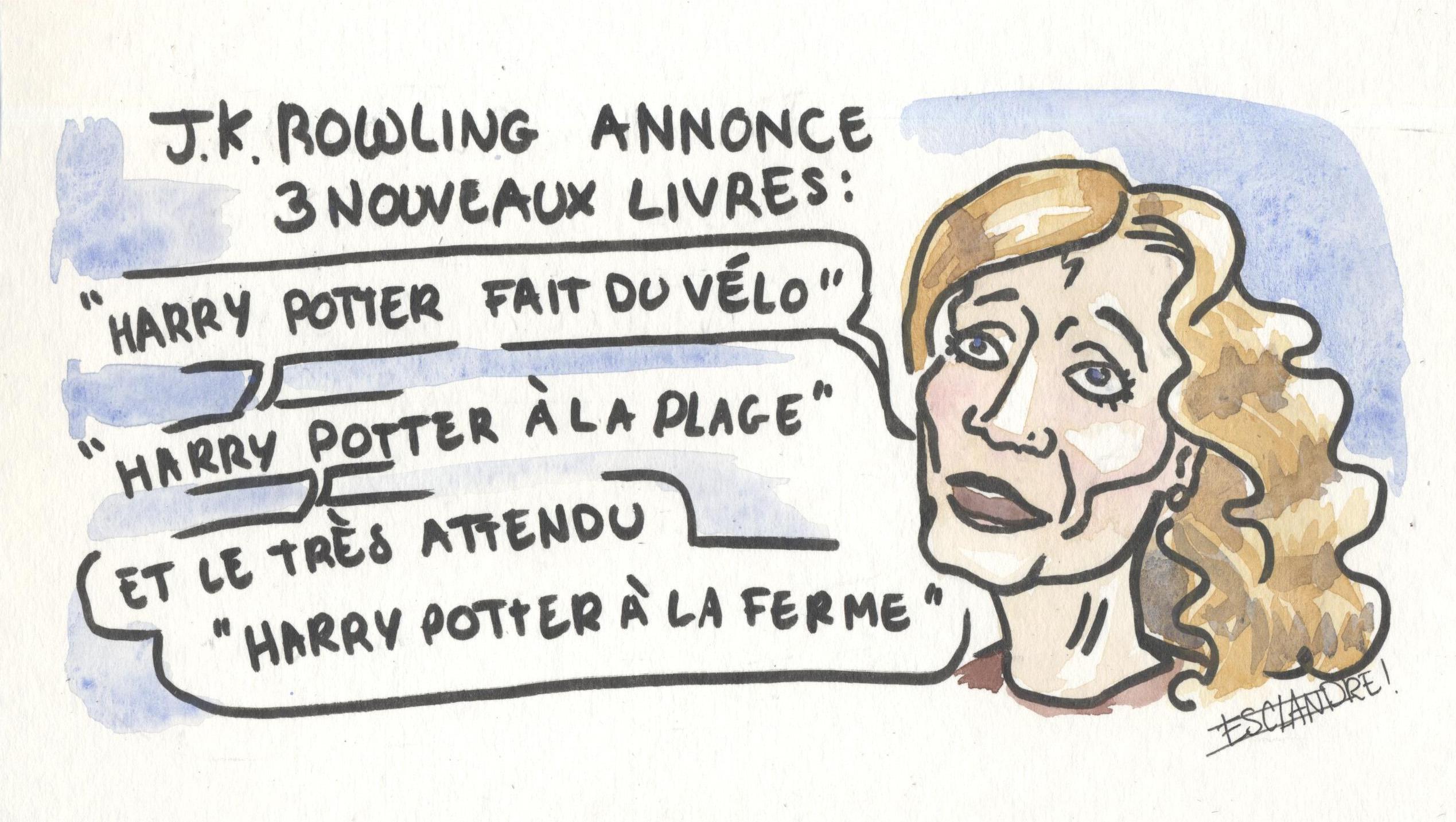 J.K Rowling annonce trois nouveaux livres Harry Potter