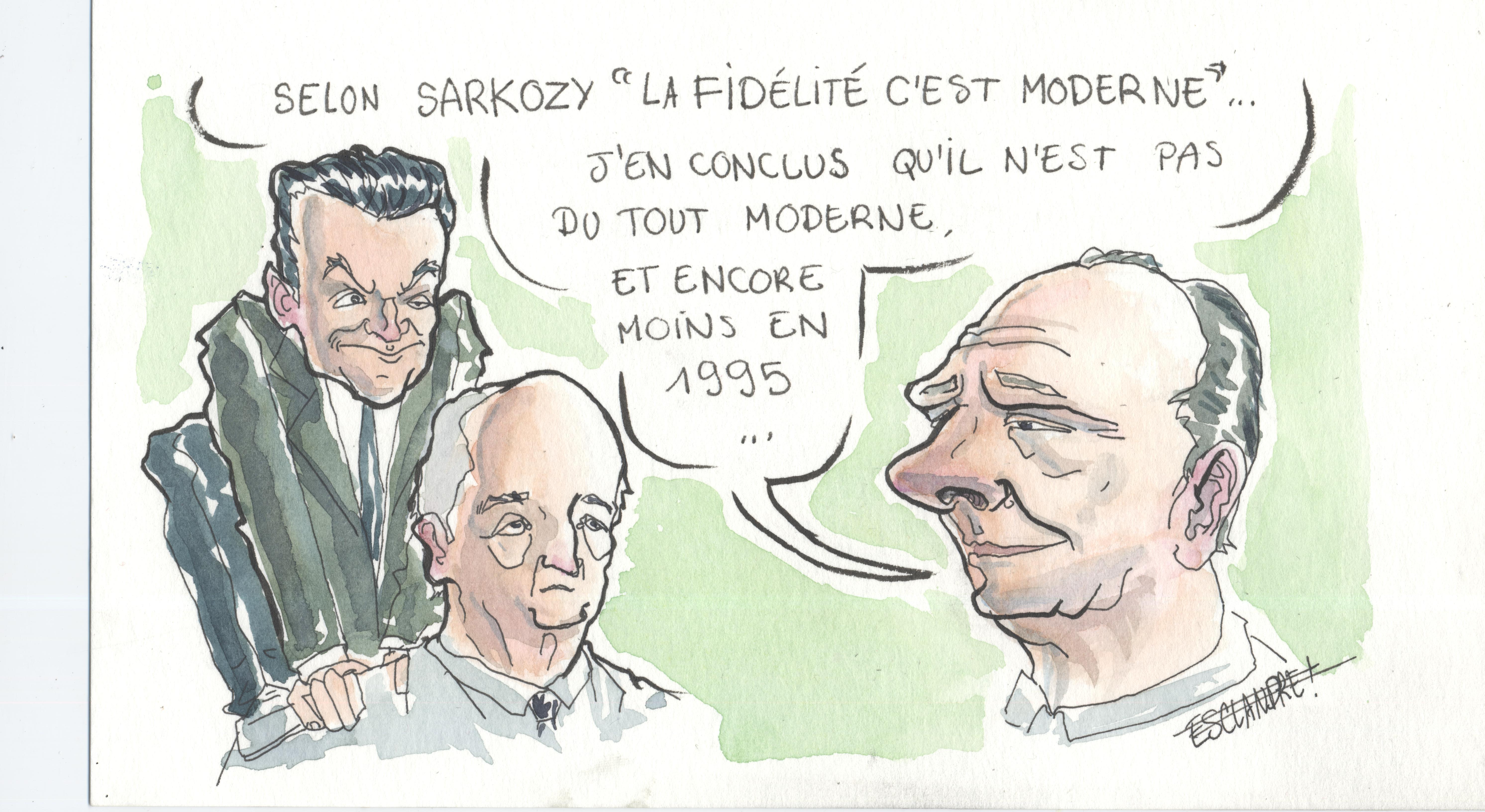 Sarkozy juge la «fidélité en politique» moderne