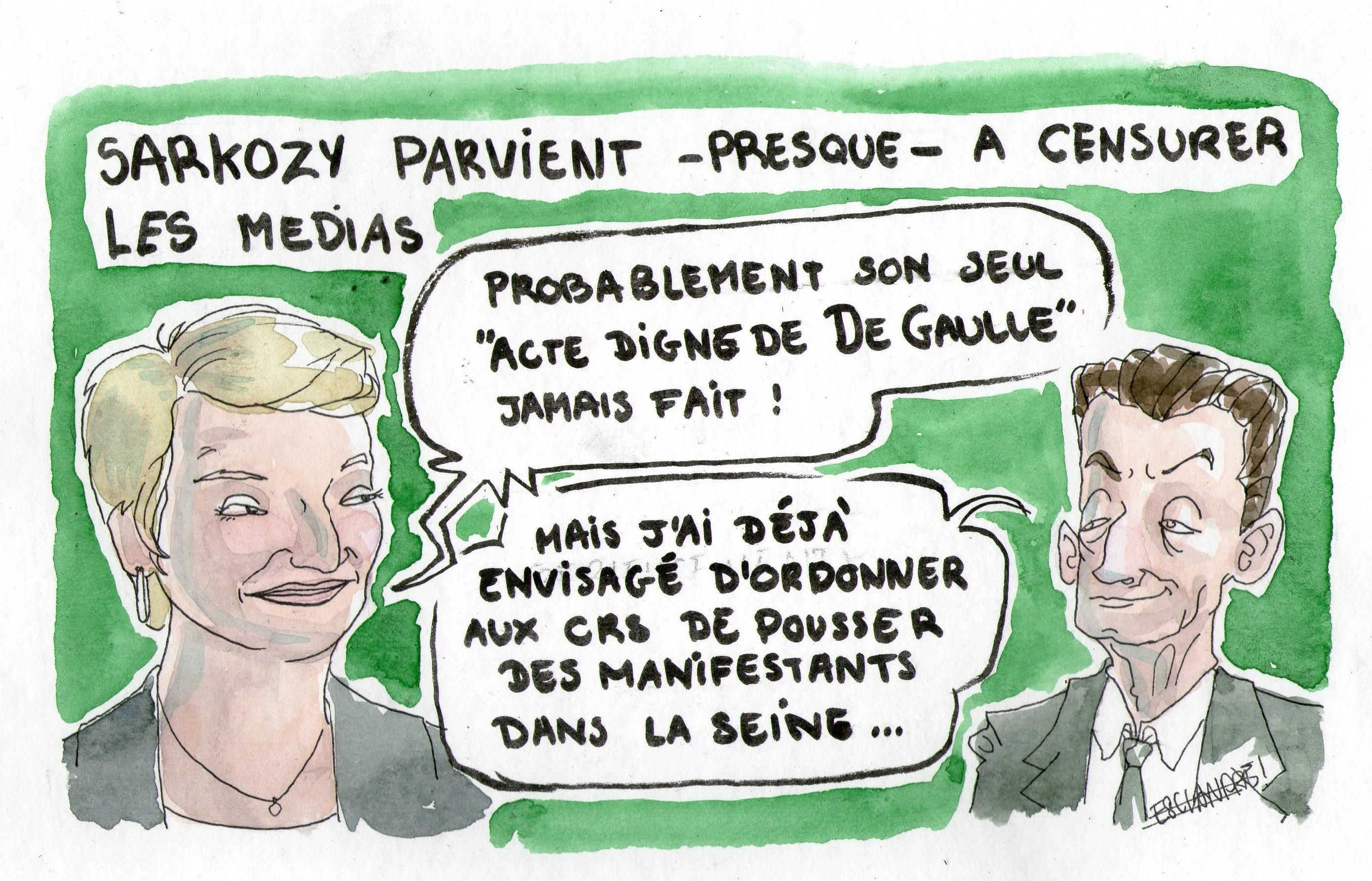Sarkozy parvient – presque – à censurer les médias