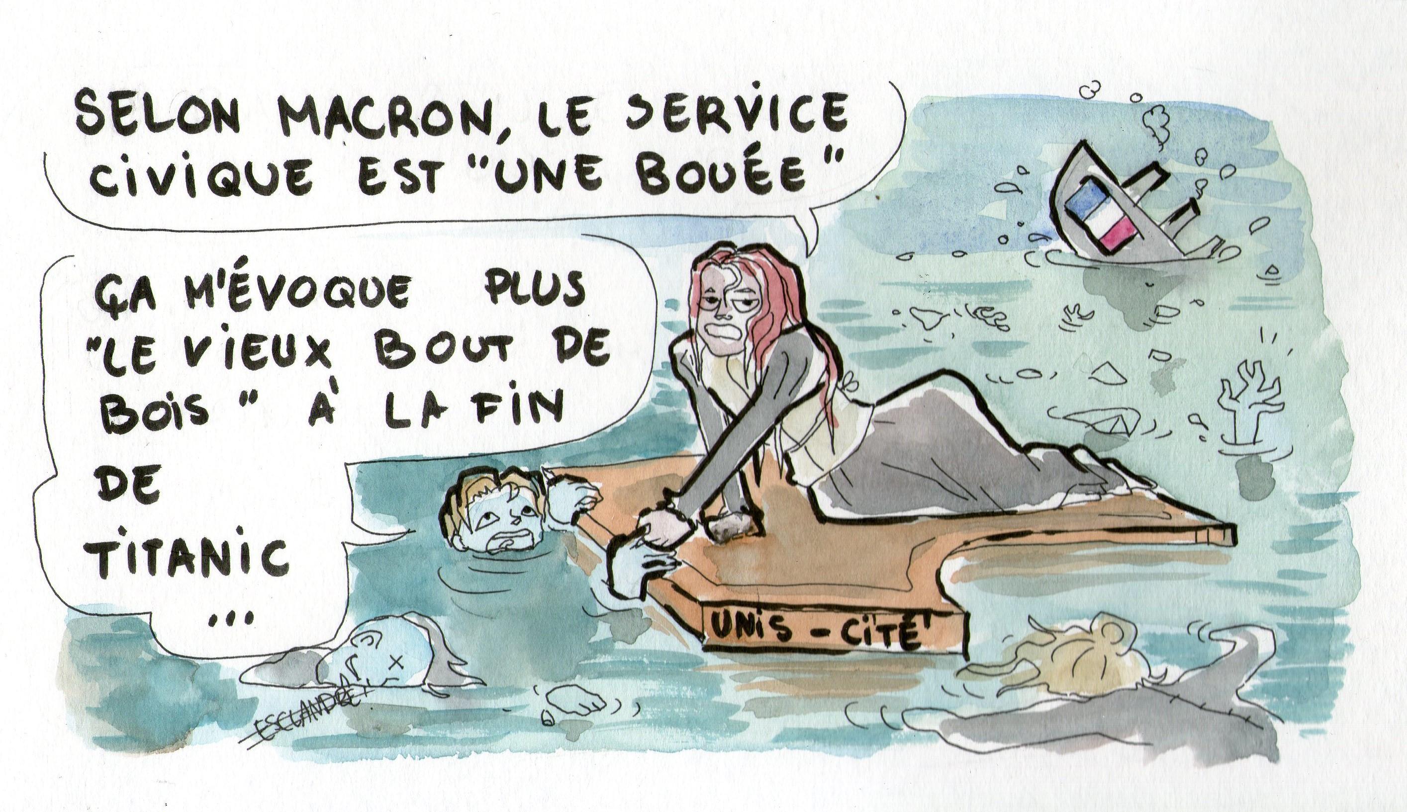 Selon Macron, le service civique est «une bouée»