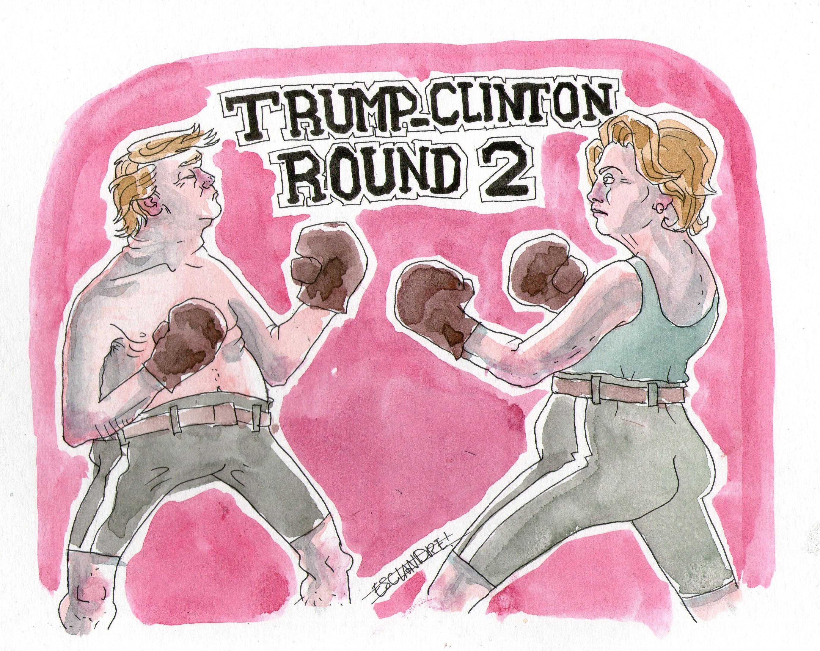 Trump – Clinton : Round 2
