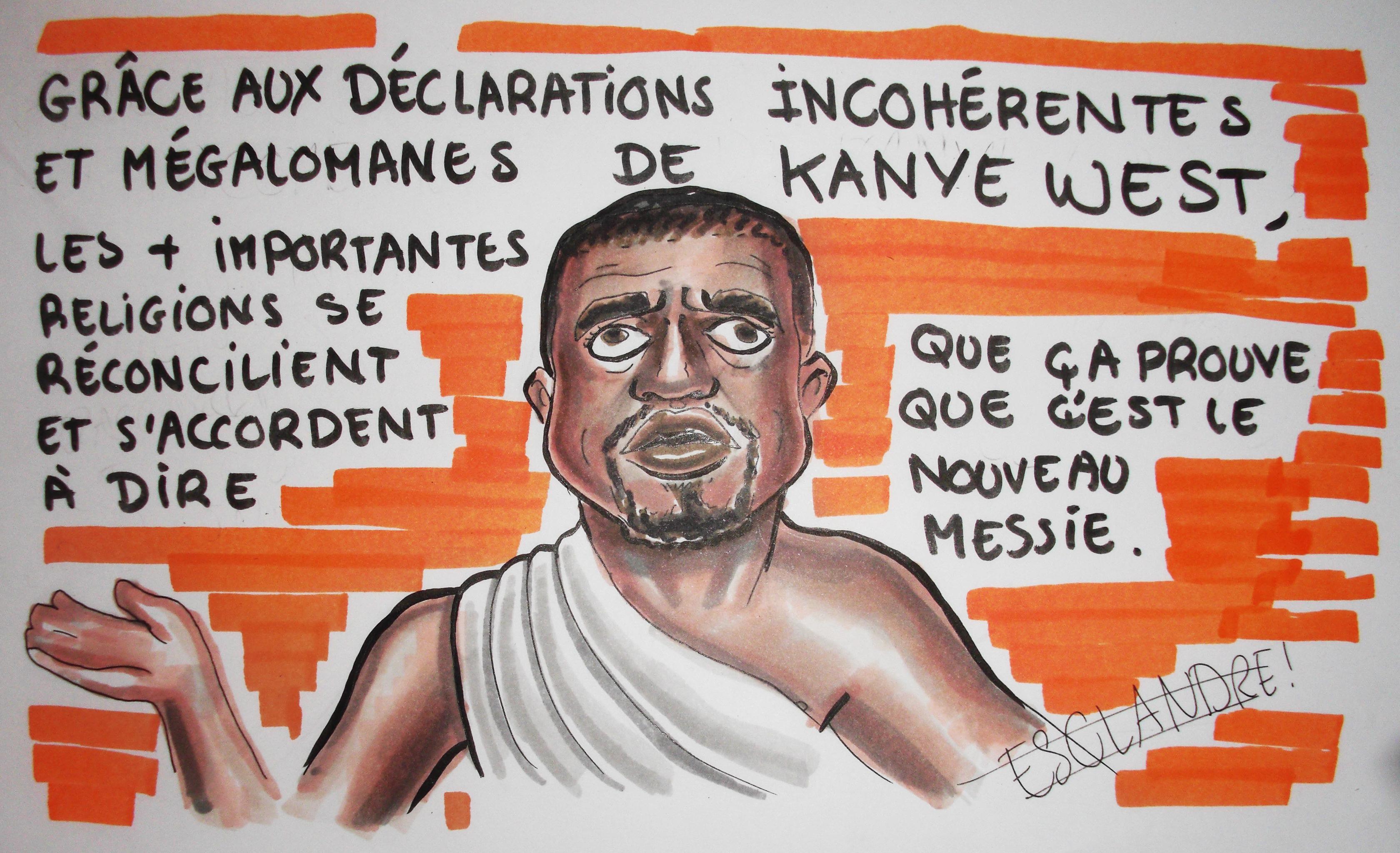 Les déclarations de Kanye WEST réconcilient enfin les religions