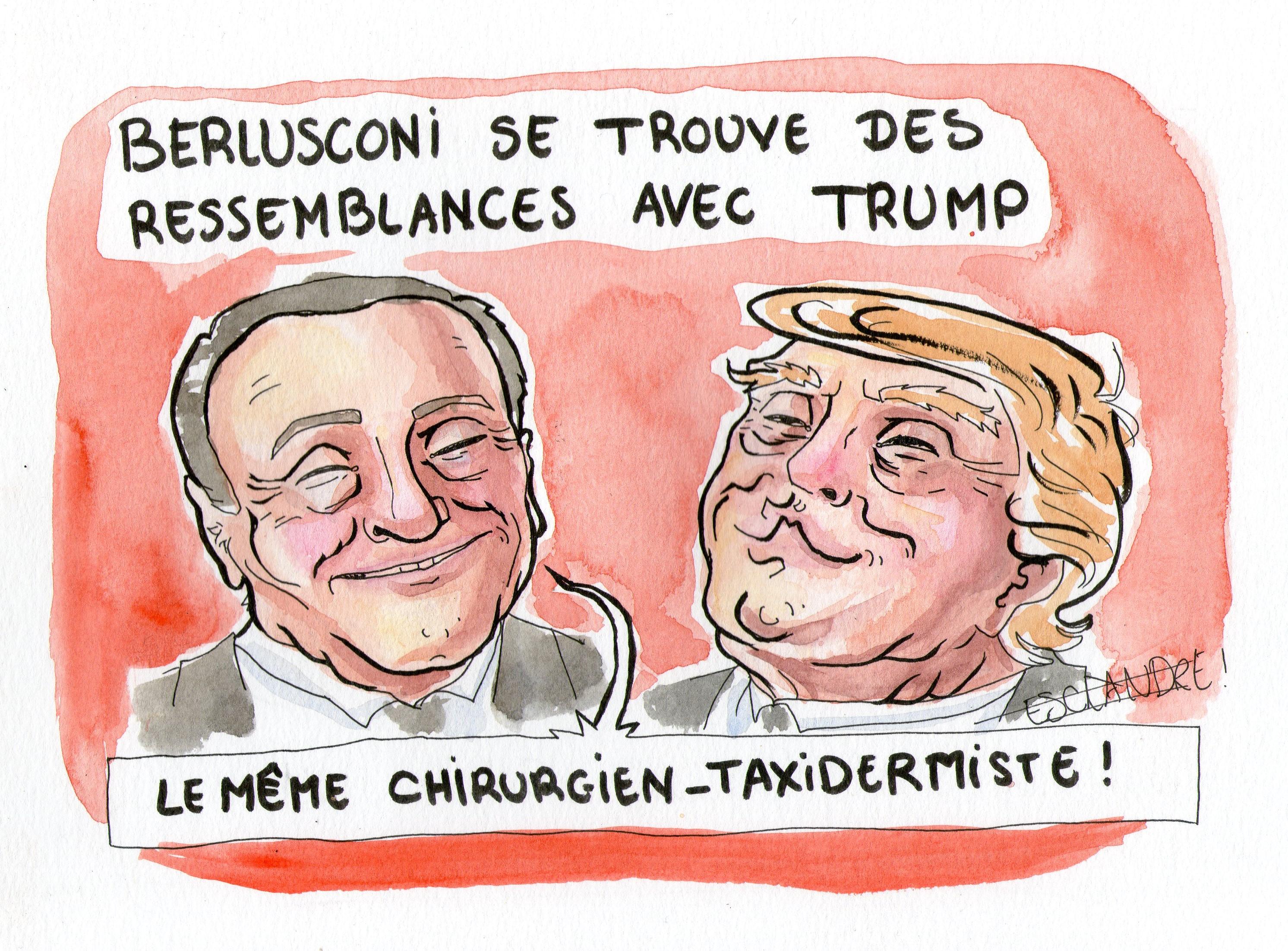 Berlusconi se trouve des ressemblances avec Trump