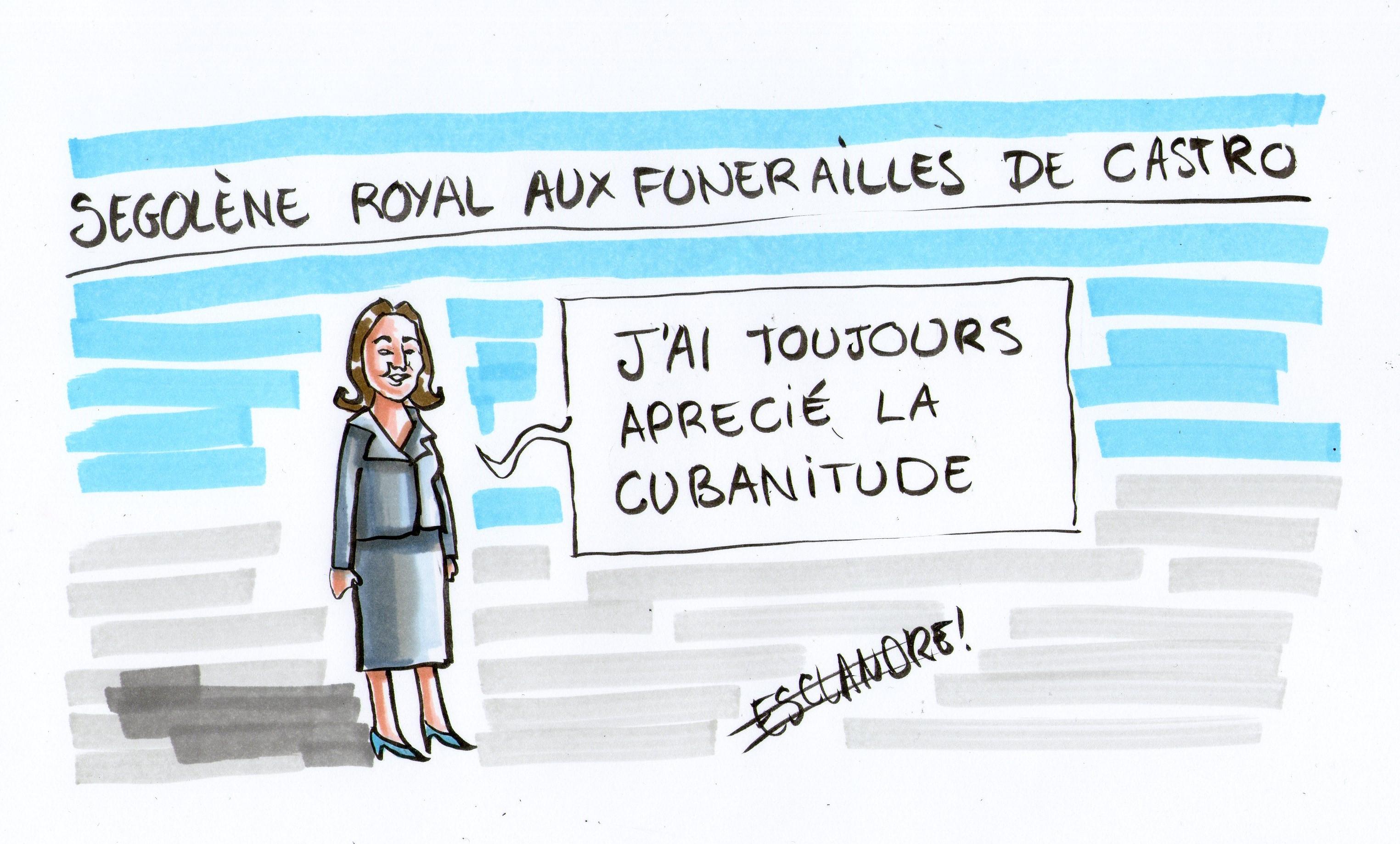 Ségolène Royal aux funérailles de Castro