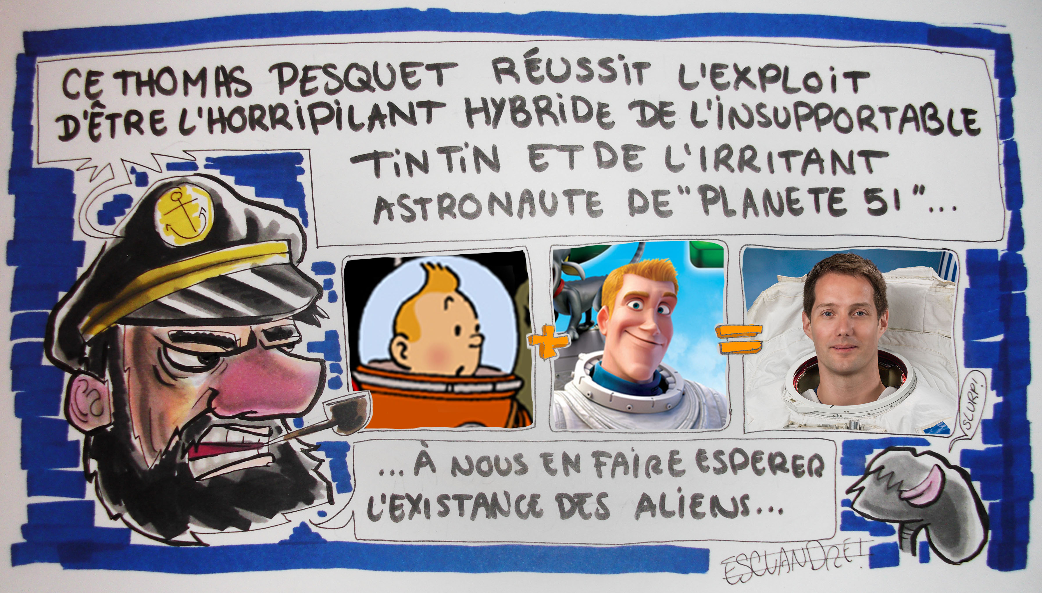 L'astronaute Thomas Pesquet…