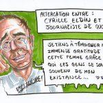 Cyrille Eldin remercie la journaliste de Quotidien